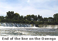 The dam on the Oswego River